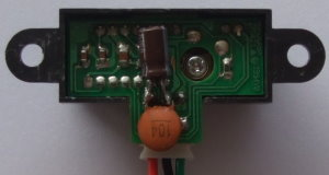 Soldering capacitors onto IR sensor