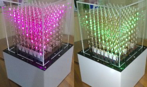 DIY 8x8x8 RGB LED cube