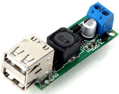 Double USB Voltage Step Down Regulator Module