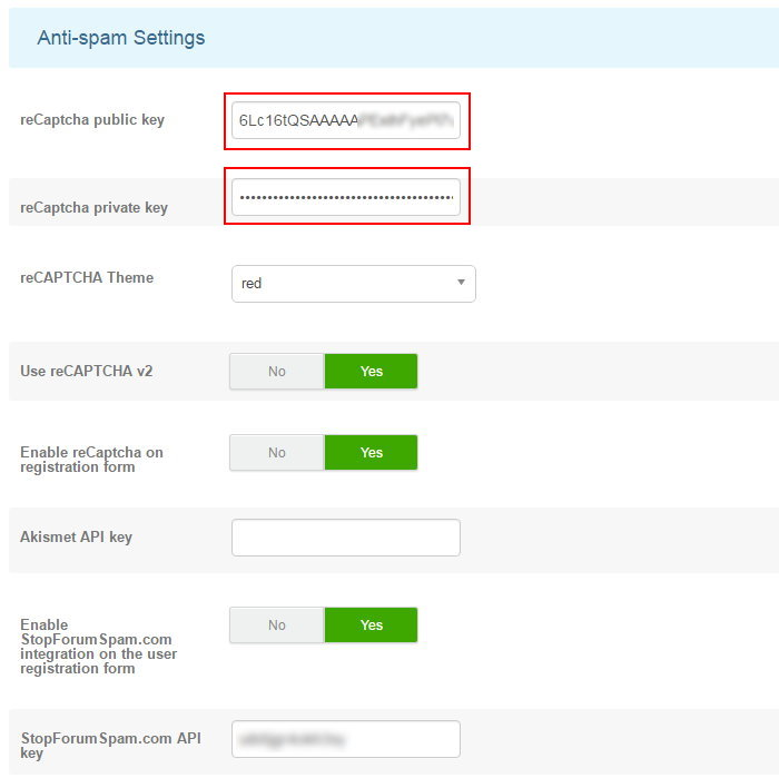 K2 Anti spam 