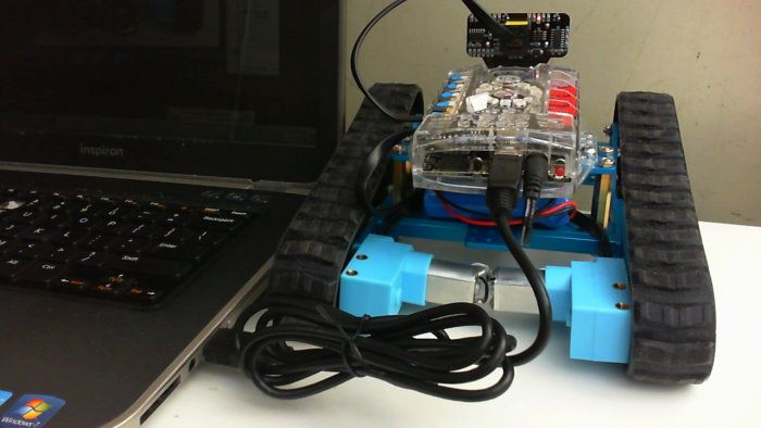 Connect the mBot Ranger via USB