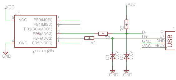 Simplest Digispark schematic