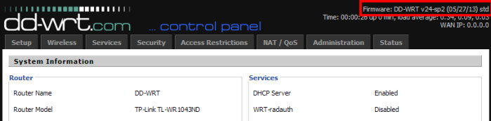 DD-WRT V24-sp2 (05/27/13) std