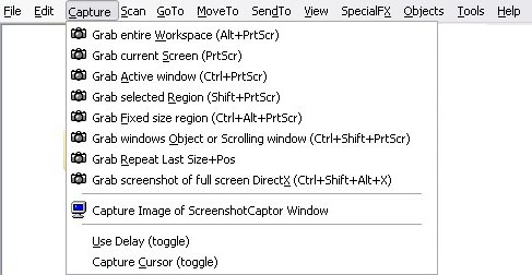 Screenshot Captor capture method