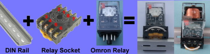 Mount Relay on a DIN Rail