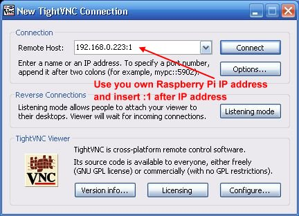 TightVNC Connection