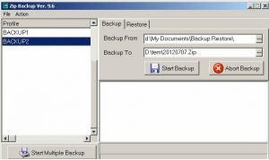 Delphi Auto Backup main screen